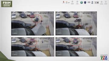 Las cámaras de seguridad en Autos Aladino.