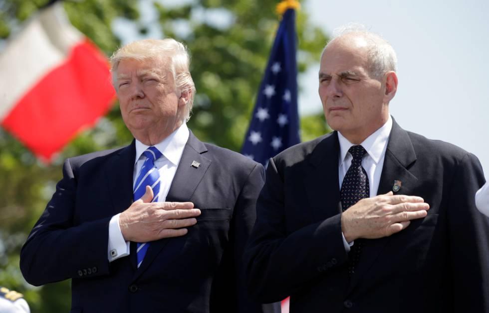 Trump y Kelly en un acto en mayo