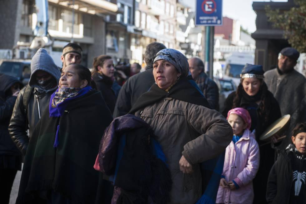 Isabel Huala, la madre del lonco mapuche detenido.