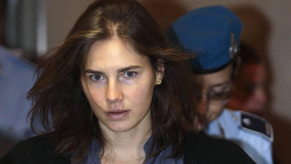 Amanda Knox, en una sesión judicial en 2011 en Italia