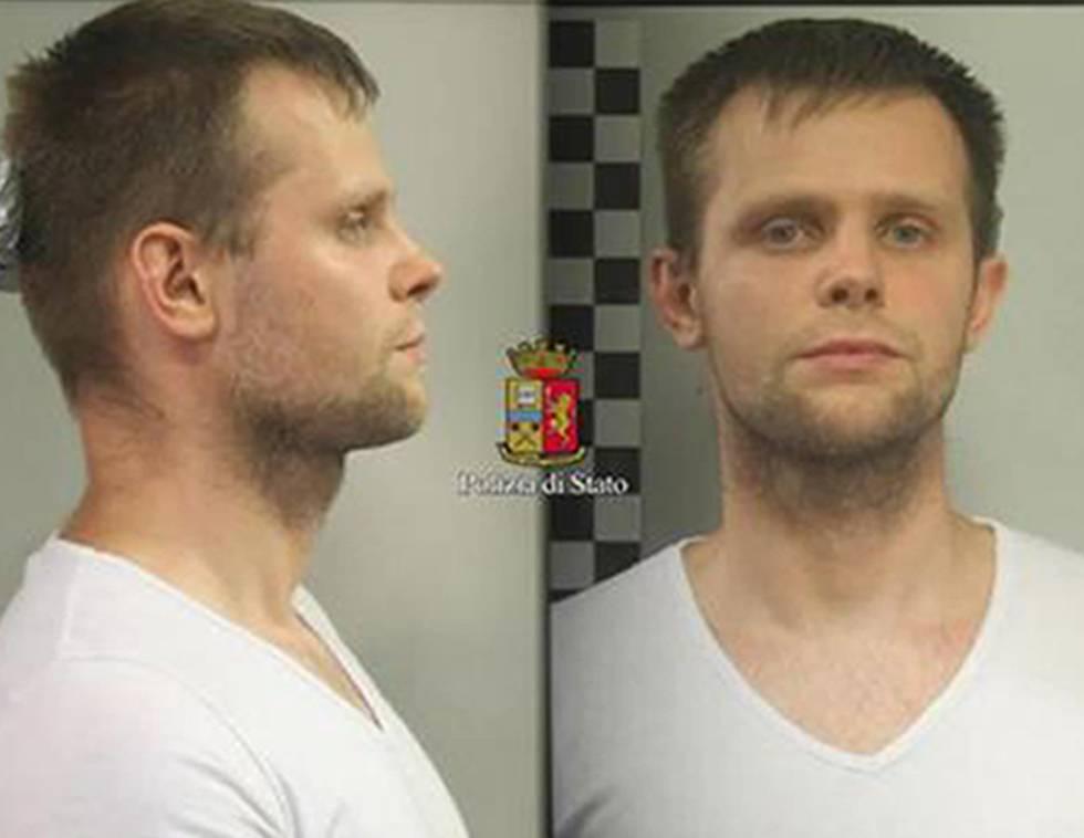 Lukasz Pawel Herba, arrestado por la policía italiana por el secuestro de una modelo británica en Italia.