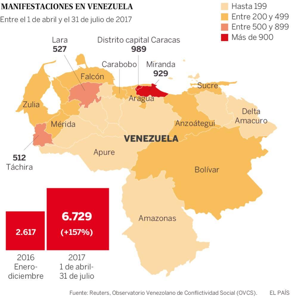 Un país sitiado por las protestas