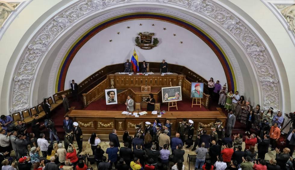 Sesión plenaria de la Asamblea Constituyente, este martes en Caracas.
