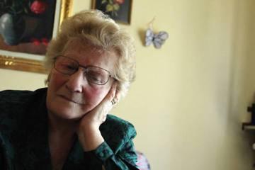 Romana Blasotti Pavesi, en su pequeño apartamento en la ciudad italiana de Casale Monferrato, en una imagen de 2012, cuando todavía no había empezado a olvidar.