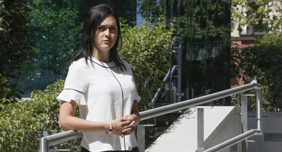 Rosaura Valentini, ante la Audiencia Nacional en Madrid.