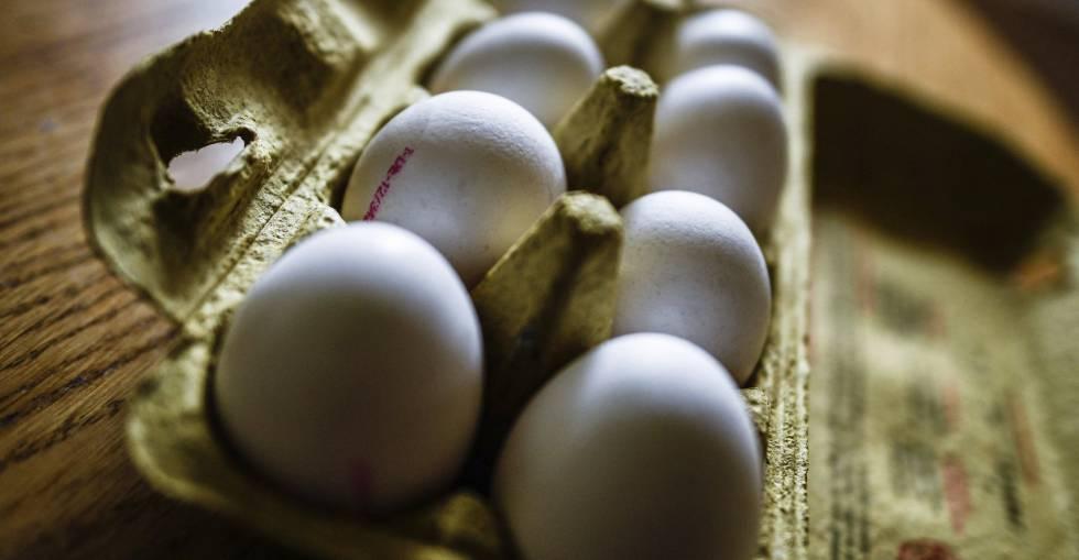 huevos contaminados