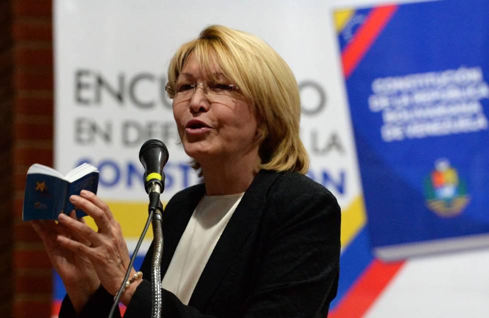 Luisa Ortega durante un acto público reciente en Venezuela