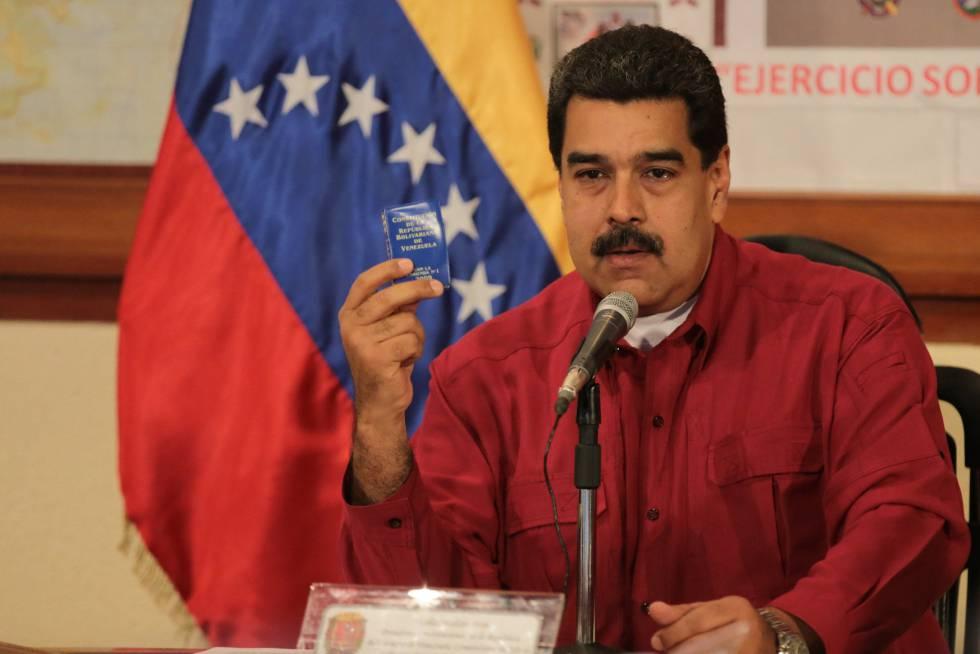 Nicolás Maduro, este jueves en Caracas.
