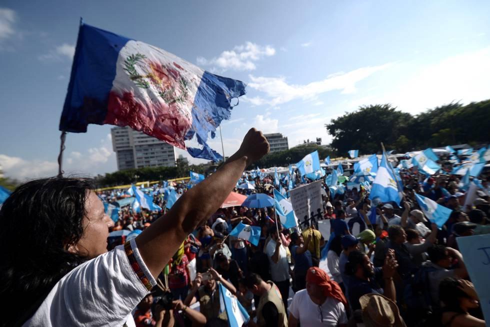 Protestas contra el presidente de Guatemala.