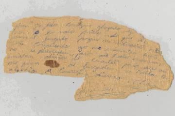 Mensaje en papel de Arquímedes a su madre Aprodeh.