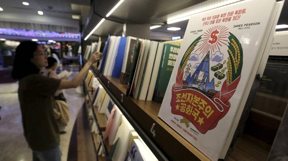 O livro 'A República Capitalista da Coreia' em uma livraria de Seul.