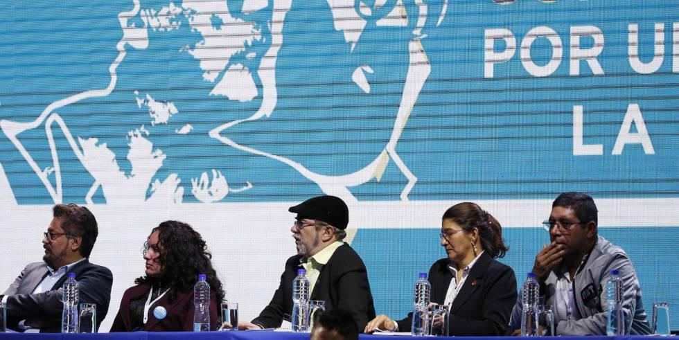 Un momento del congreso de las FARC.
