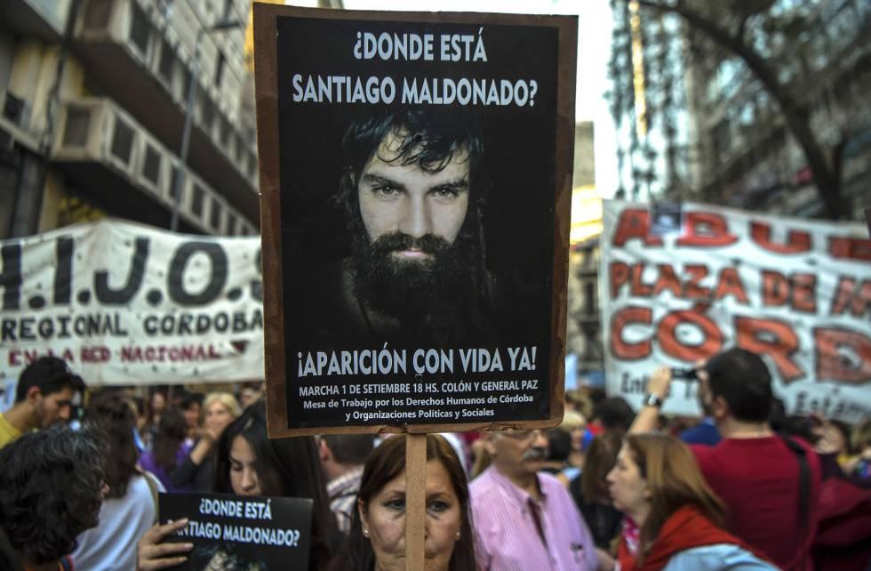 Manifestantes en el centro de Buenos Aires.