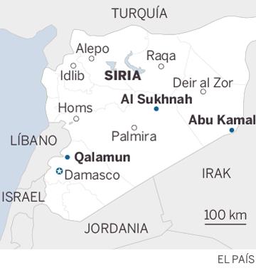 EE UU bloquea un convoy de milicianos del ISIS y sus familias en el desierto de Siria