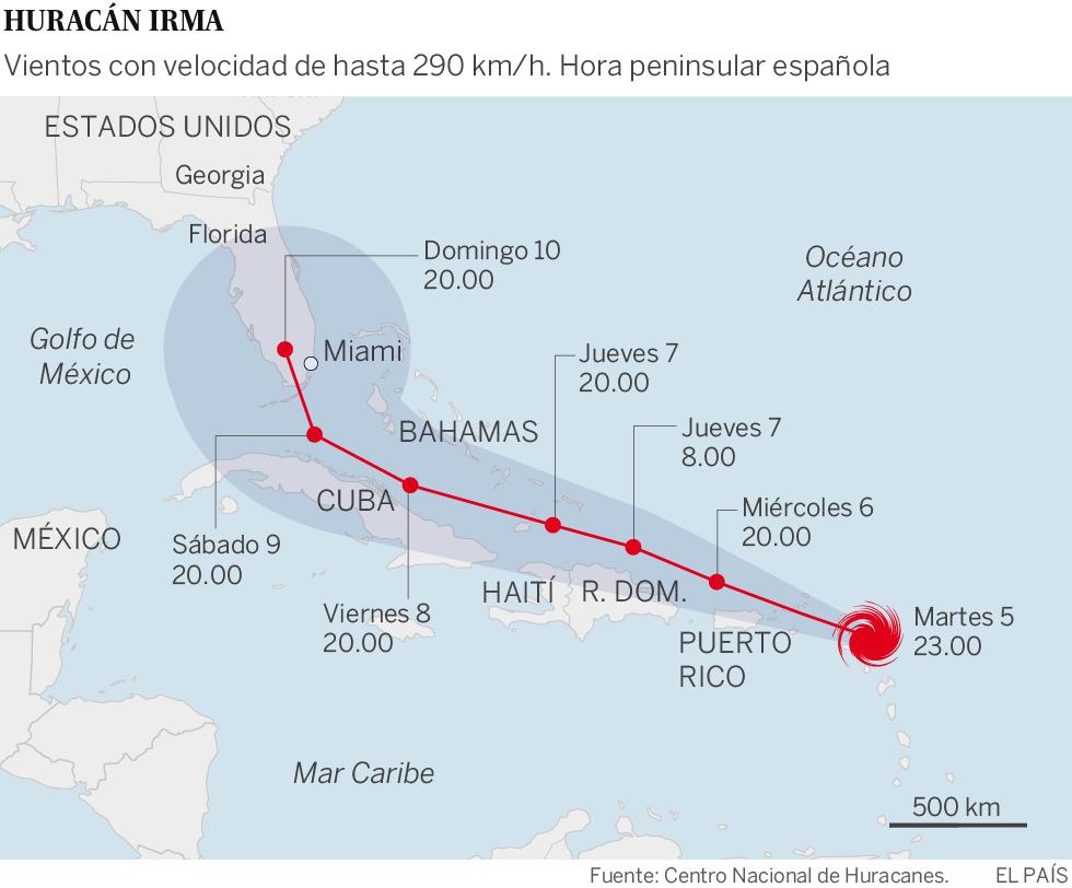 El Gobernador Rick Scott Irma Tiene Potencial Para Devastar - Mapa de florida usa