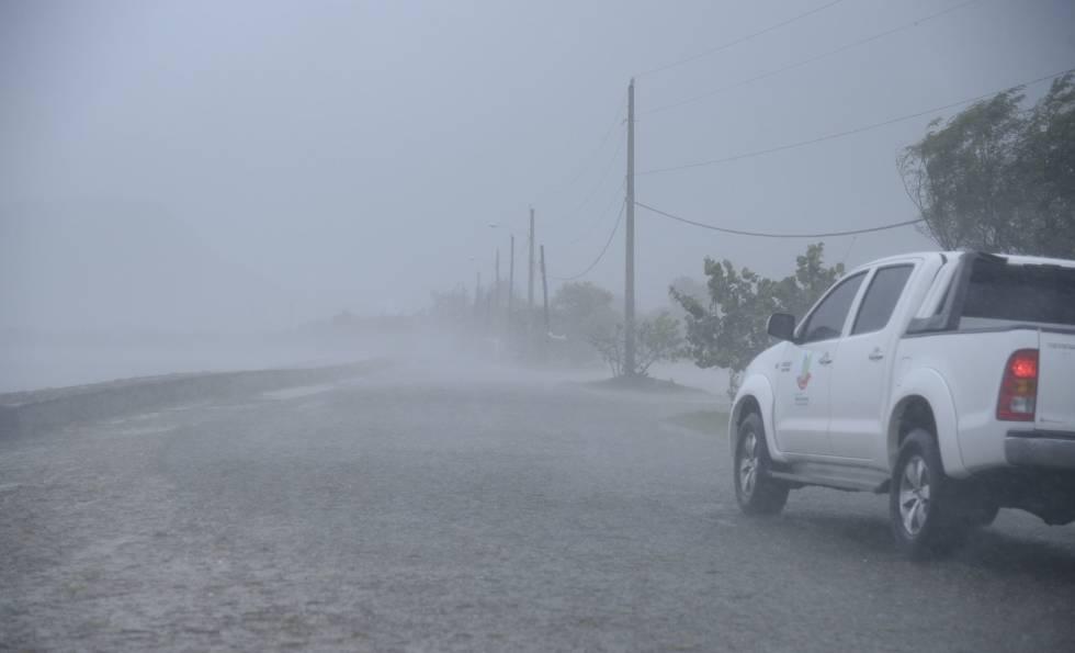 La República Dominicana tras el paso del huracán Irma.