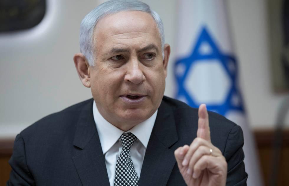 O primeiro-ministro de Israel, Binyamin Netanyahu, em uma reunião do Governo em Jerusalém.