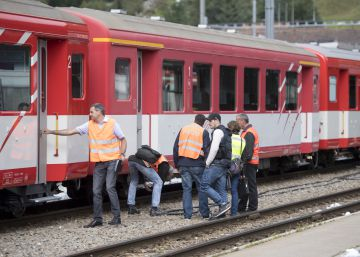 Accidente de tren en Andermatt, Suiza
