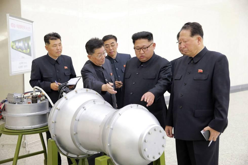 El líder de Corea del Norte, Kim Jong Un, en una foto distribuida el 3 de septiembre.