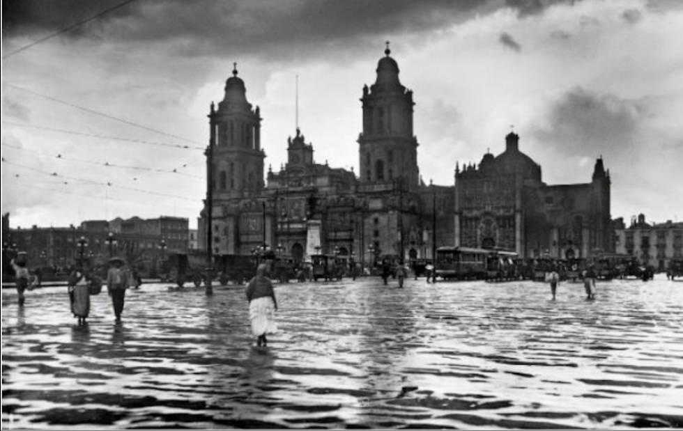 Inundación en Ciudad de México en 1905.