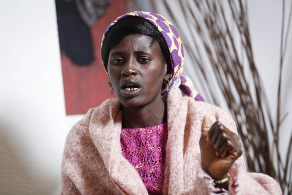 La nigeriana Rebeca Bitrus, que sufrió el cautiverio de la secta Boko Haram durante dos años, este lunes en Madrid.
