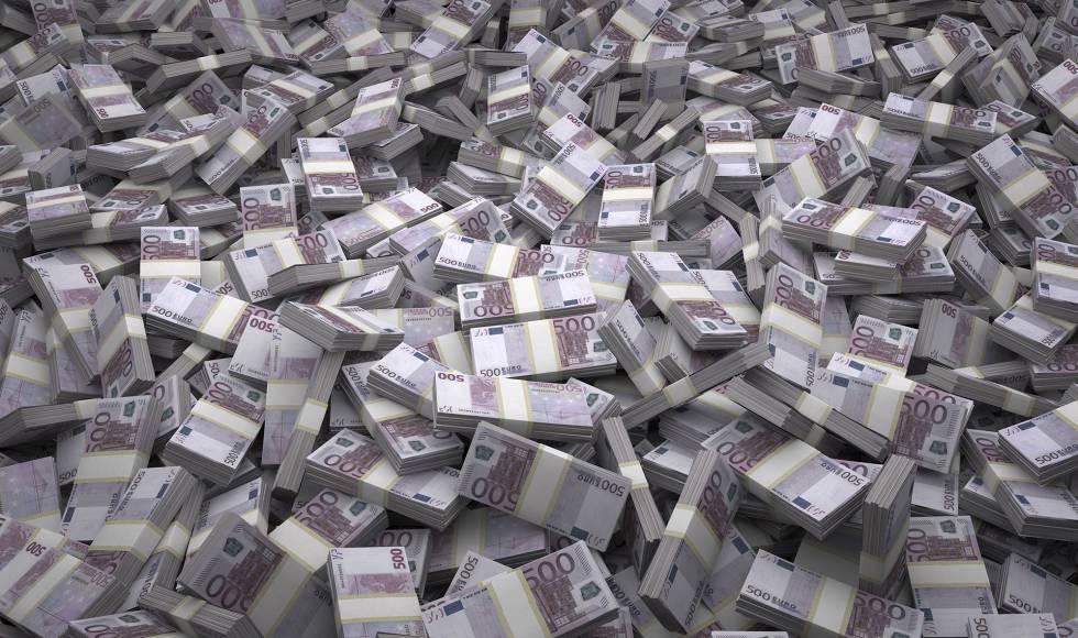 Fajos de billetes de 500 euros.