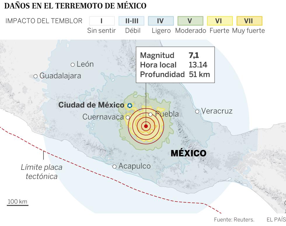 Sismo Ms de 220 muertos por un fuerte terremoto en Mxico