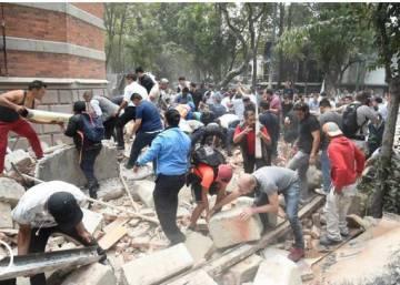 Resultado de imagen para terremoto en mexico 2017 edificios