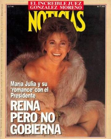 Alsogaray en la portada de la revista Noticias, en 1990.