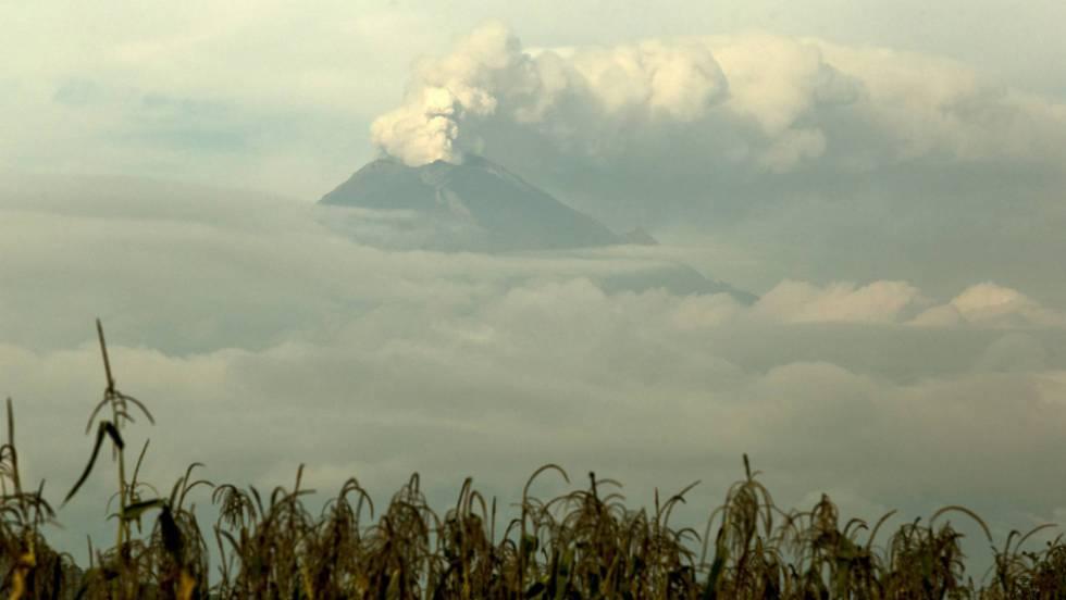 El volcán Popocatépetl despierta después del terremoto