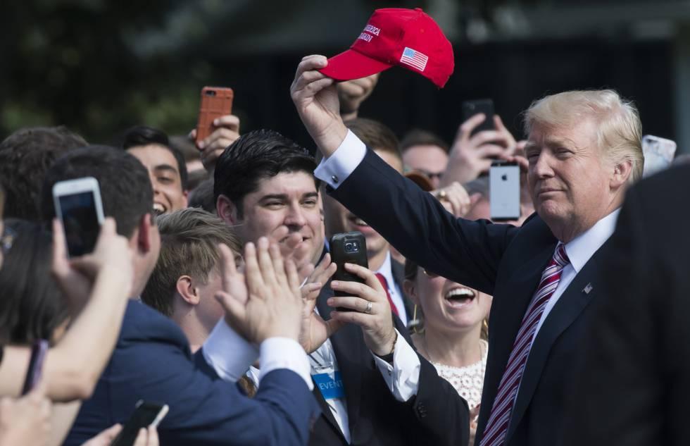 Donald Trump, este viernes, en Washington.