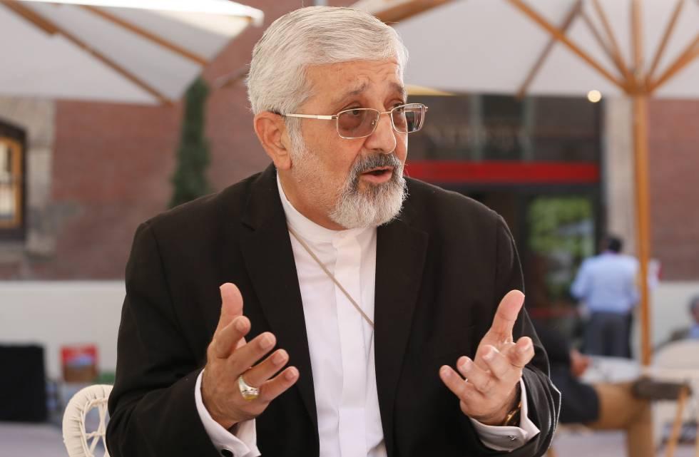 Ali Asghar Soltanie, físico nuclear iraní, durante su visita a la Universidad Nebrija de Madrid.