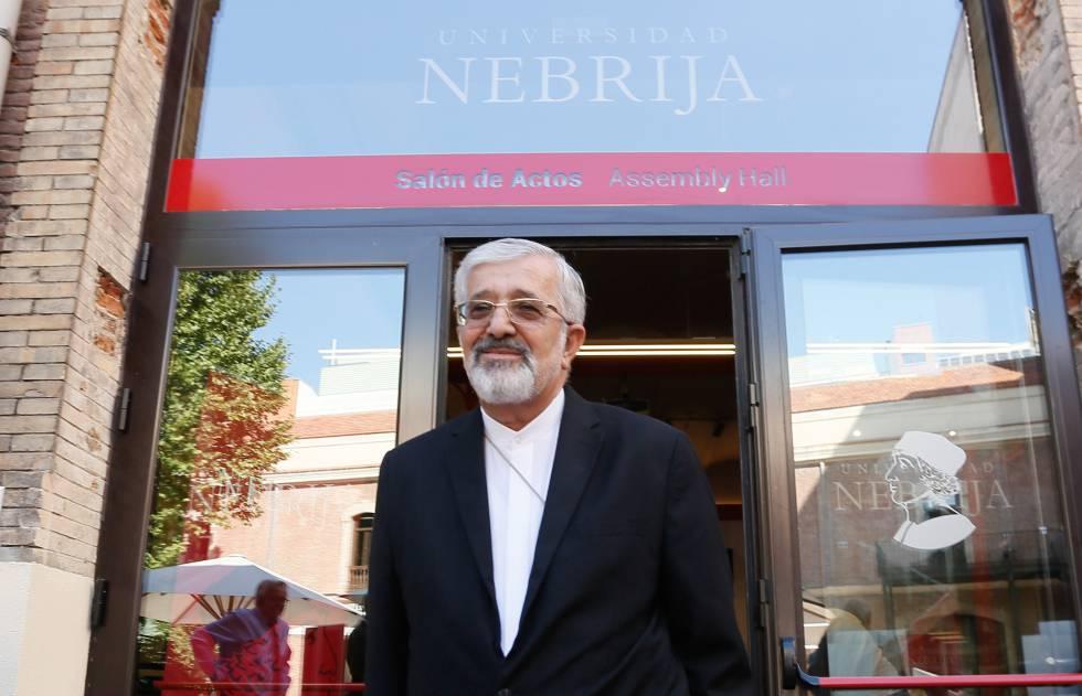 Ali Asghar Soltanieh, físico nuclear iraní, durante su visita a la Universidad Nebrija de Madrid.