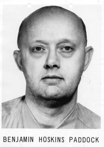 Fotografía policial de Benjamin Hoskins Paddock, padre el supuesto autor de la matanza de Las Vegas.