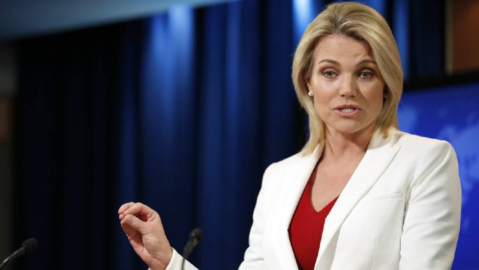 La portavoz del Departamento de Estado, Heather Nauert.