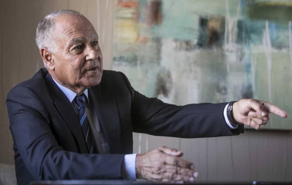 Ahmed Aboul-Gheit, Secretario General de la Liga Árabe, durante la entrevista en Madrid, este miércoles 4 de octubre.