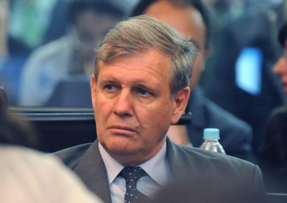 El represor Alfredo Astiz durante un juicio en Buenos Aires, en una foto de archivo.