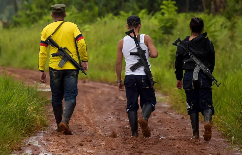 Miembros de la disidencia de las FARC en el departamento del Guaviare.