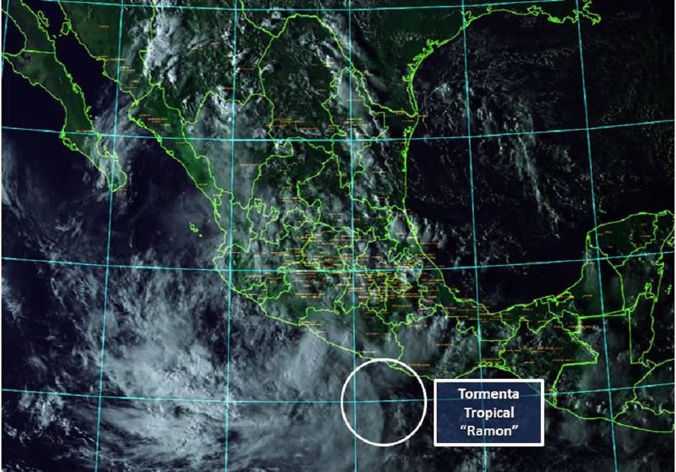 La trayectoria de la tormenta tropical Ramón.