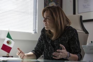 Zavala durante la entrevista.