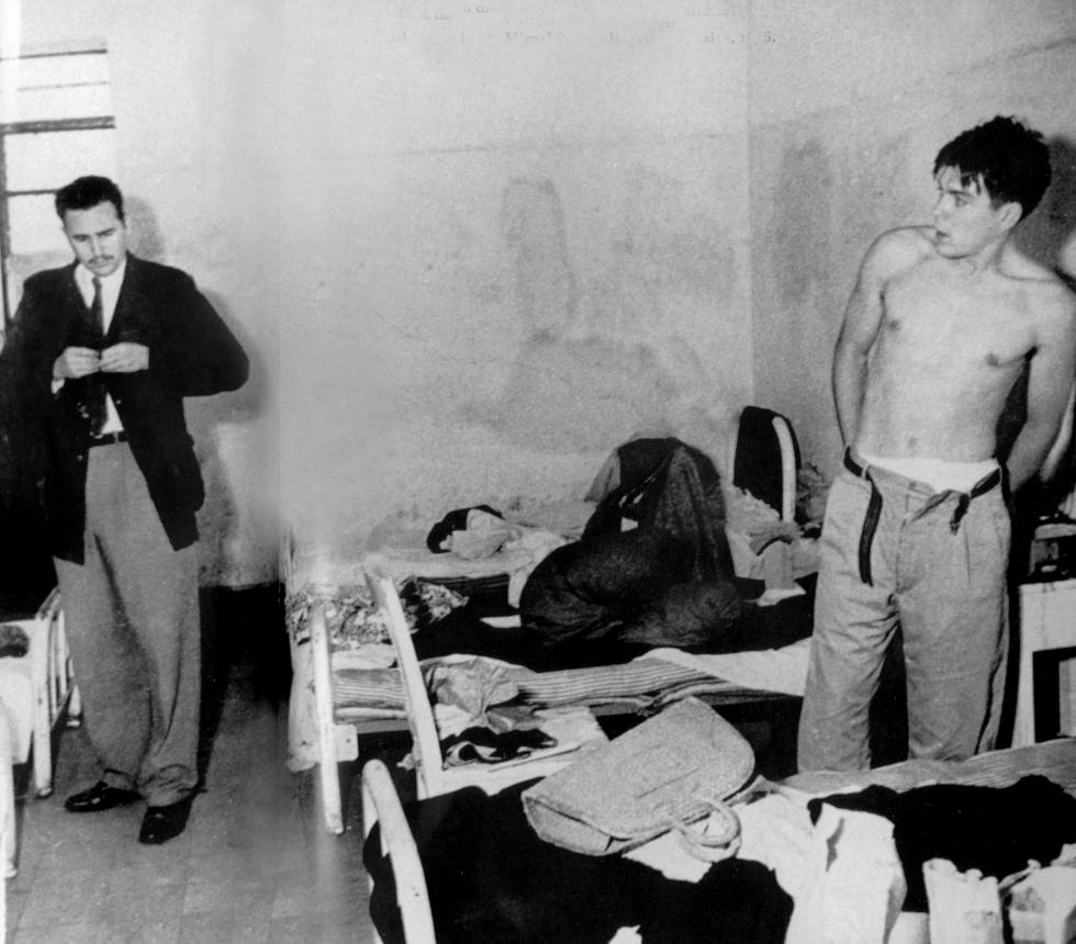 Fidel Castro y El Che en México en 1956.