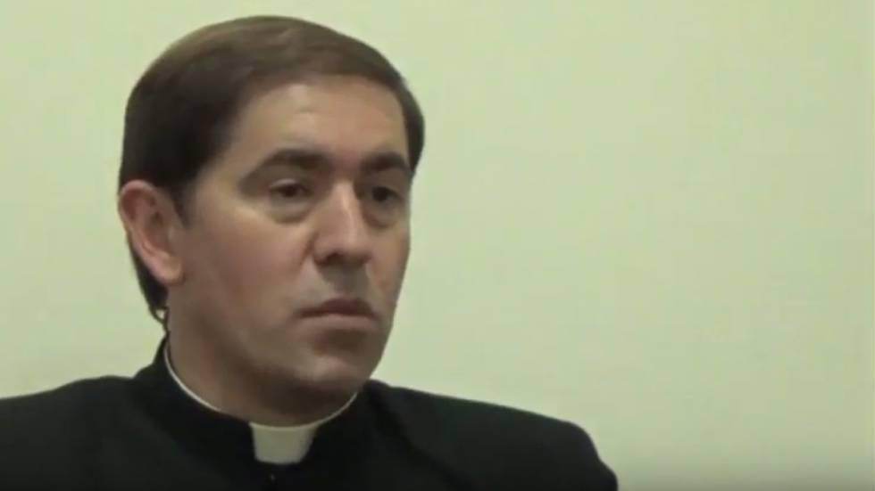 Óscar Turrión, en una entrevista tras haber sido nombrado rector de los Legionarios de Cristo.