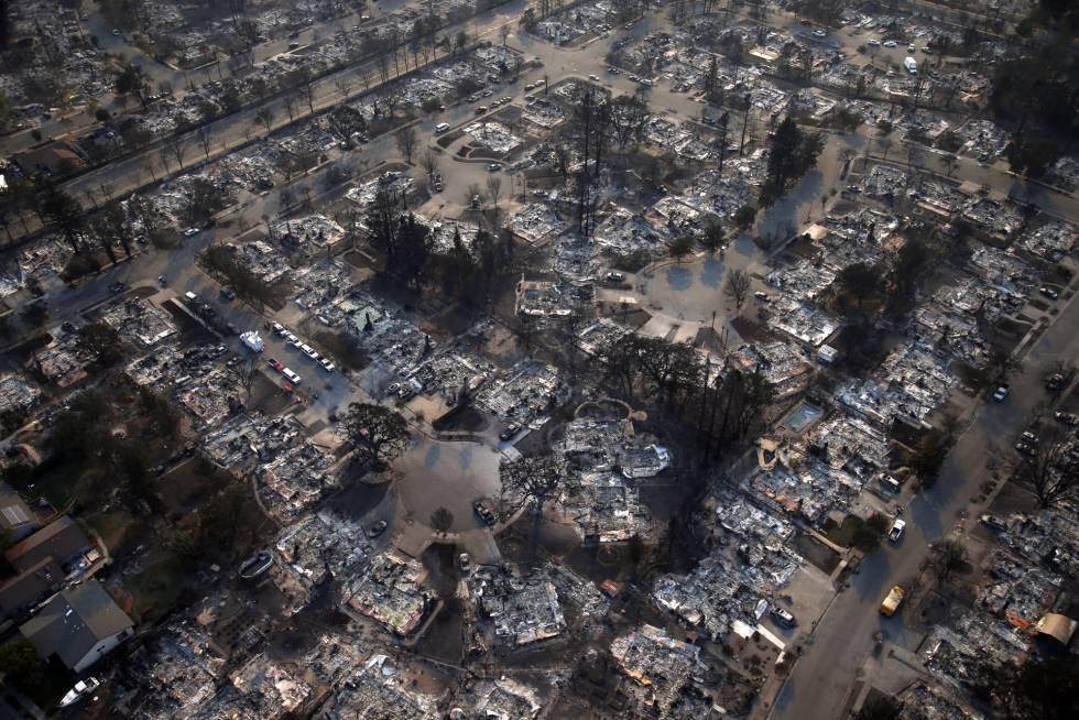 Las pérdidas por los incendios en California superan los 100.000 millones de dólares