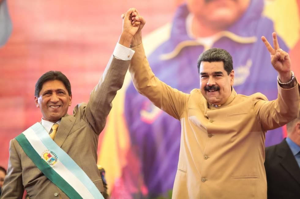 Maduro en el juramento del gobernador de Barinas, Argenis Chávez.