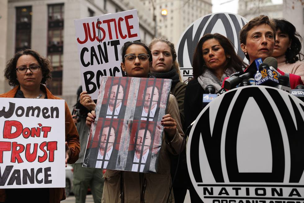 Una protesta en Nueva York contra el acoso sexual a raíz del caso Weinstein.