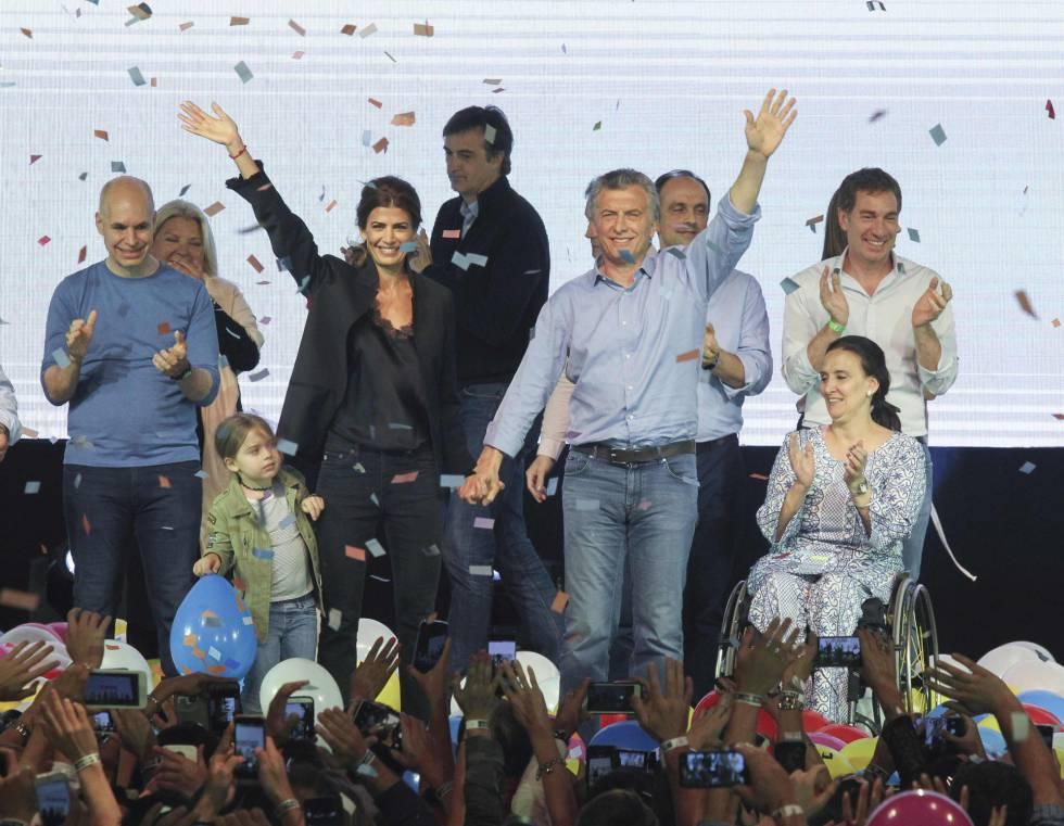 Mauricio Macri celebró el domingo el triunfo electoral del oficialismo en Argentina.