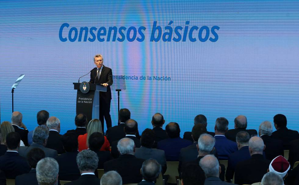 El presidente Mauricio Macri presenta su plan de reformas en el CCK, en Buenos Aires.