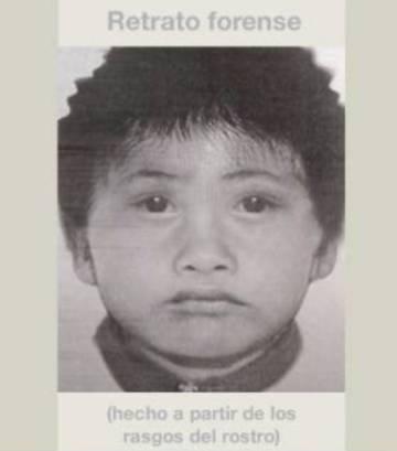 El retrato forense del menor que difundió el Instituto Forense.