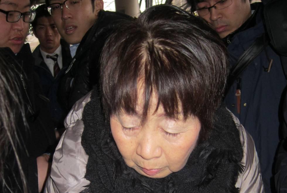 Chisako Kakehi, la 'Viuda Negra' japonesa, poco después de ser detenida en 2014.