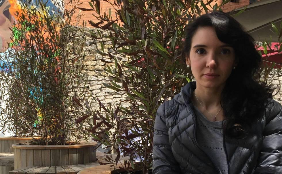 Diana López esta semana en Bogotá.